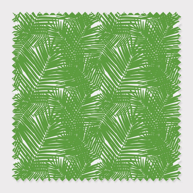 Fabric Cotton / Green Jungle Leaves Fabric