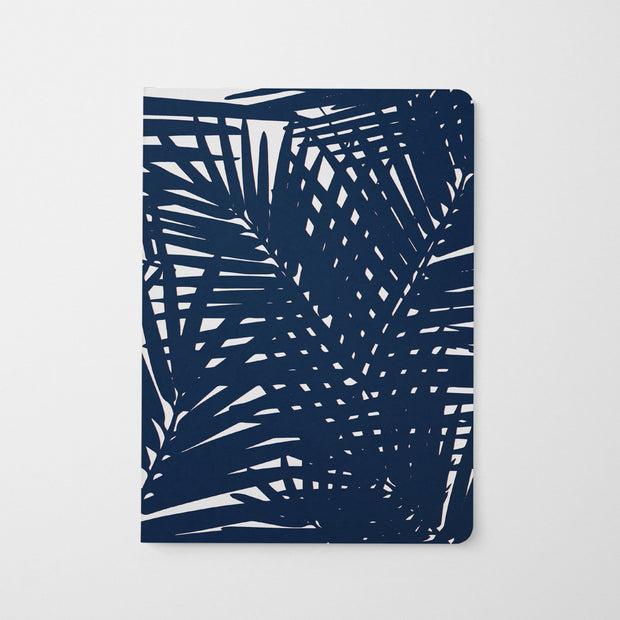Journal Navy Jungle Leaves Journal