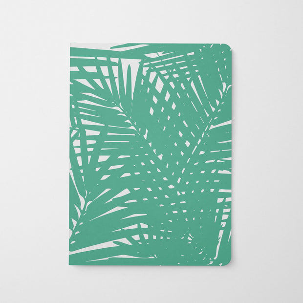 Journal Teal Jungle Leaves Journal