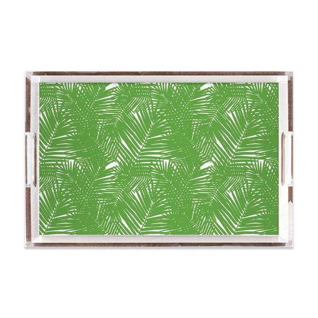 Lucite Trays 11x17 / Green Jungle Leaves Lucite Tray
