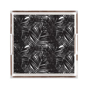 Lucite Trays 12x12 / Black Jungle Leaves Lucite Tray