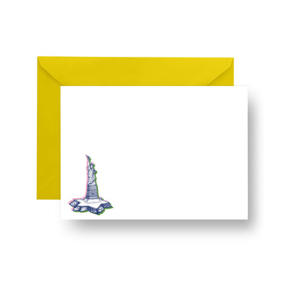 Flat Notecard Printed Notecard Lady Liberty Notecard Set