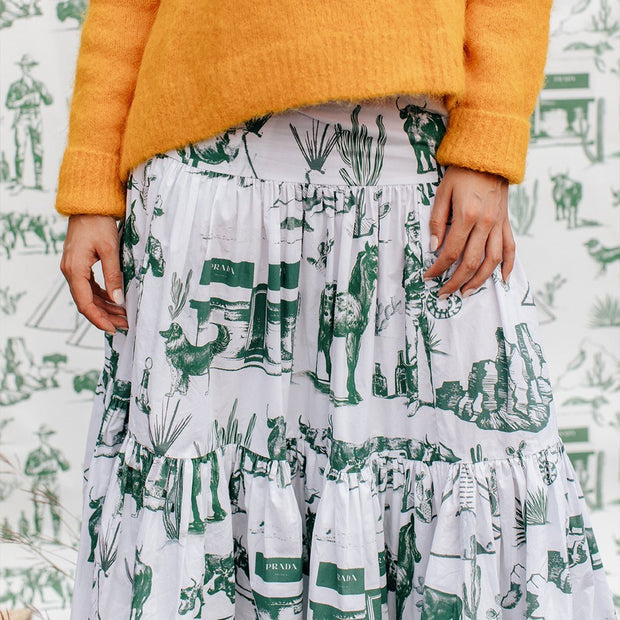 Skirt Marfa Toile Maxi Skirt - Hunter