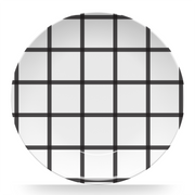"Melamine Black In Check 10"" Plate"