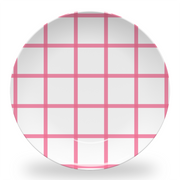 "Melamine Pink In Check 10"" Plate"