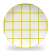 "Melamine Yellow In Check 10"" Plate"