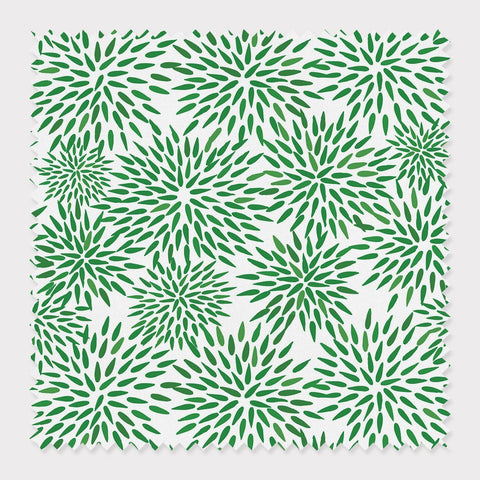 Fabric Cotton / Green Mums The Word Fabric
