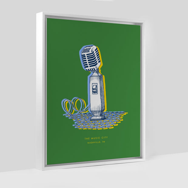 Gallery Prints Nashville Microphone Print