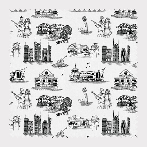 Fabric Cotton / Black Nashville Toile Fabric