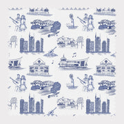 Fabric Cotton / Navy Nashville Toile Fabric