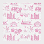 Fabric Cotton / Pink Nashville Toile Fabric