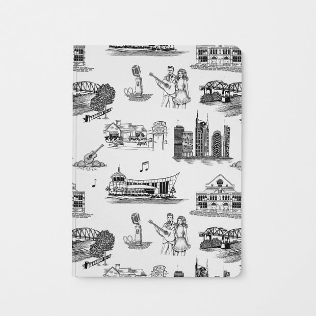 Journal Black Nashville Toile Journal