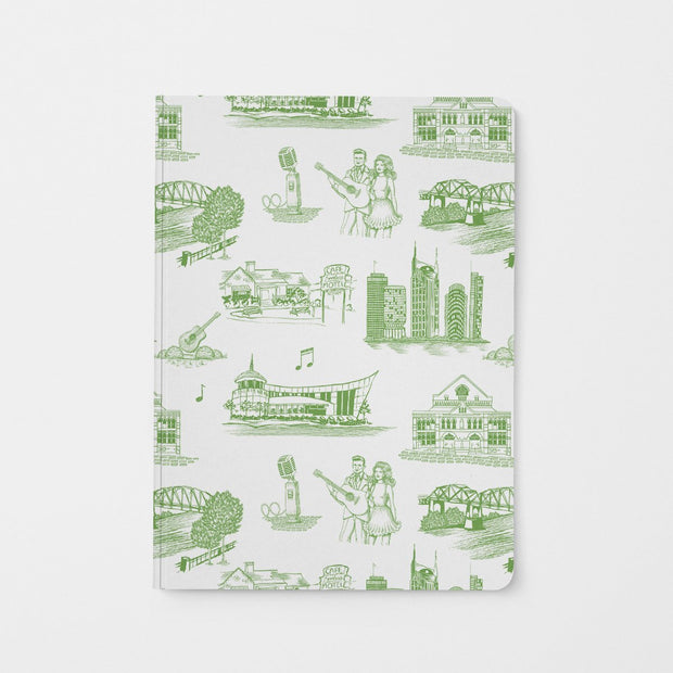 Journal Green Nashville Toile Journal