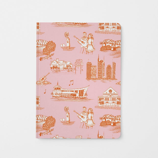 Journal Orange Pink Nashville Toile Journal