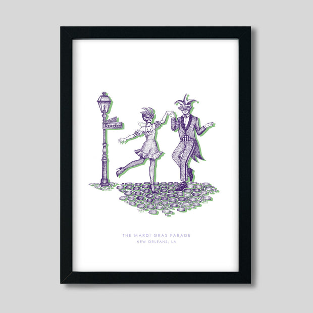Gallery Prints Purple Print / 8x10 / Black New Orleans Mardi Gras Print