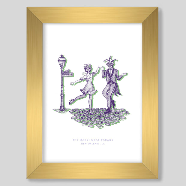 Gallery Prints Purple Print / 8x10 / Gold New Orleans Mardi Gras Print