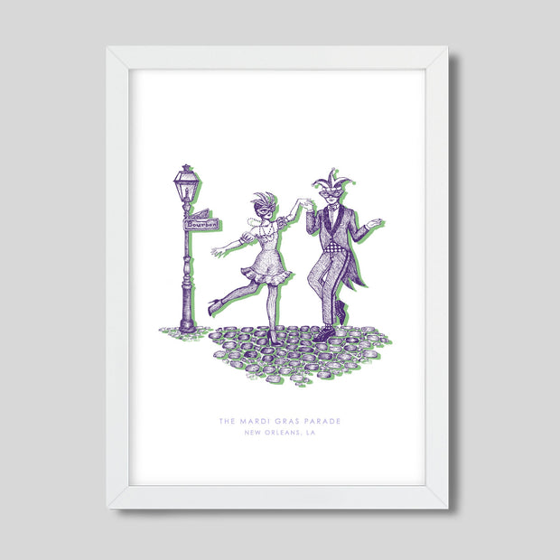 Gallery Prints Purple Print / 8x10 / White New Orleans Mardi Gras Print