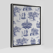 Gallery Prints Navy / 8x10 / Silver New Orleans Toile Canvas