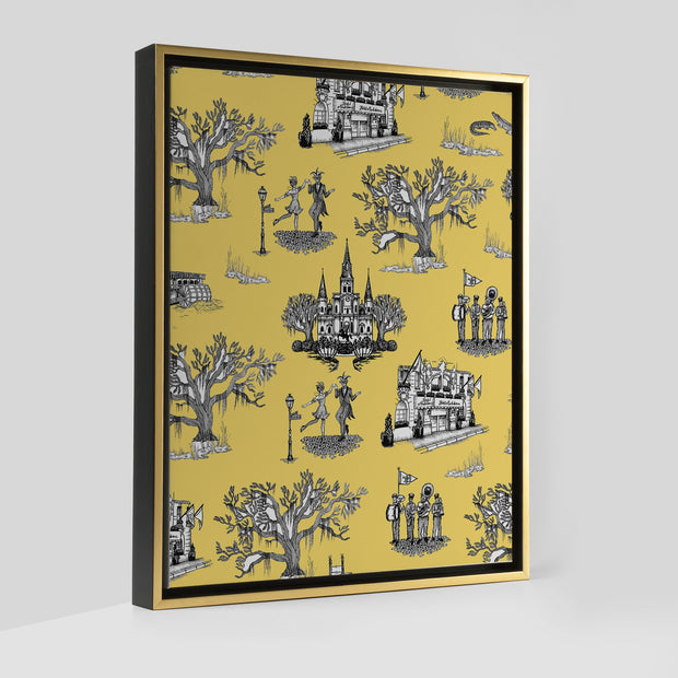 Gallery Prints Yellow / 8x10 / Gold New Orleans Toile Canvas