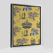 Gallery Prints Yellow / 8x10 / Silver New Orleans Toile Canvas