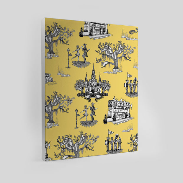 Gallery Prints Yellow / 8x10 / Unframed New Orleans Toile Canvas