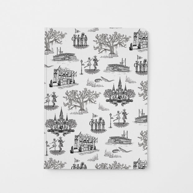 Journal Black New Orleans Toile Journal
