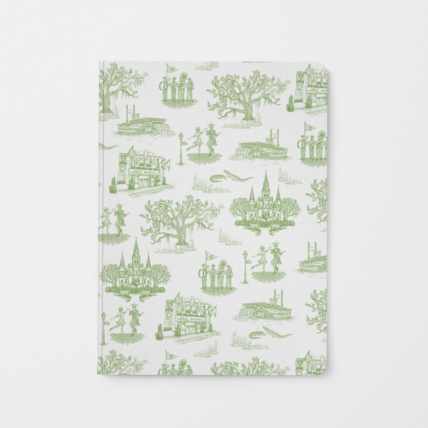 Journal Green New Orleans Toile Journal