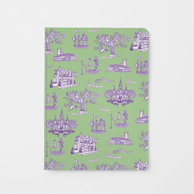 Journal Green Lavender New Orleans Toile Journal