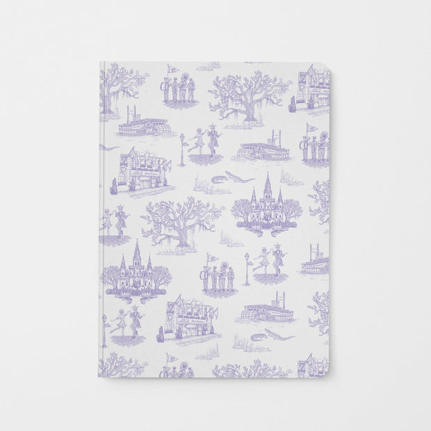 Journal Lavender New Orleans Toile Journal