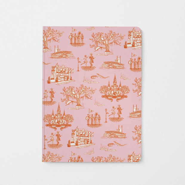 Journal Orange Pink New Orleans Toile Journal