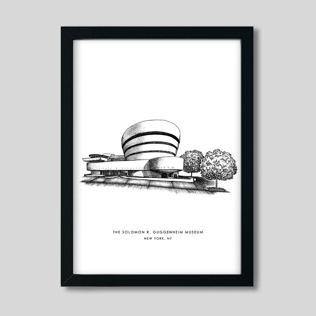 Gallery Prints Black Print / 8x10 / Black New York Guggenheim Print