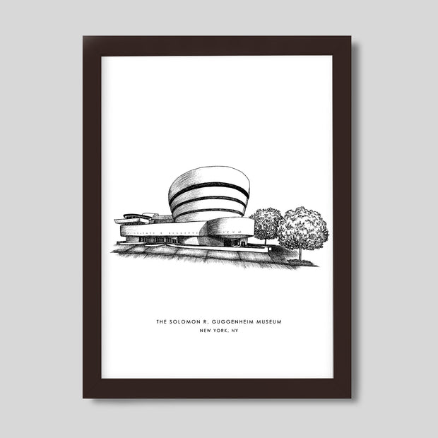 Gallery Prints Black Print / 8x10 / Walnut New York Guggenheim Print