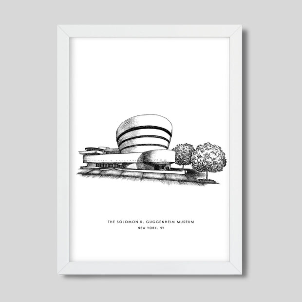 Gallery Prints Black Print / 8x10 / White New York Guggenheim Print