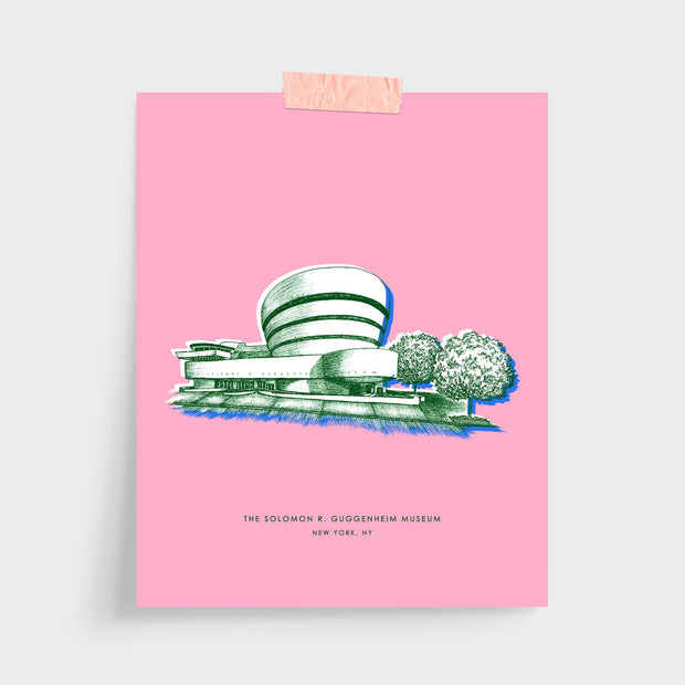 Gallery Prints Pink Print / 5x7 / Unframed New York Guggenheim Print