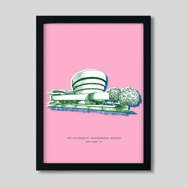 Gallery Prints Pink Print / 8x10 / Black New York Guggenheim Print