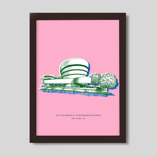 Gallery Prints Pink Print / 8x10 / Walnut New York Guggenheim Print