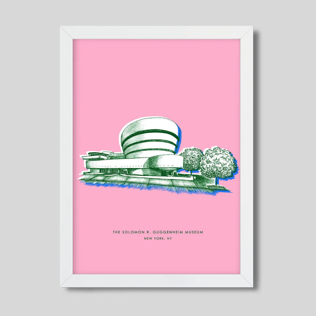 Gallery Prints Pink Print / 8x10 / White New York Guggenheim Print
