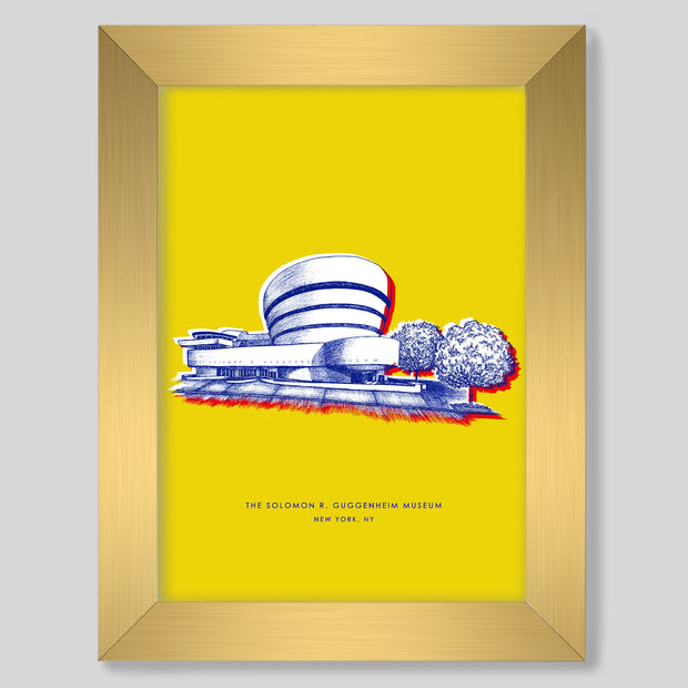 Gallery Prints Yellow Print / 8x10 / Gold New York Guggenheim Print