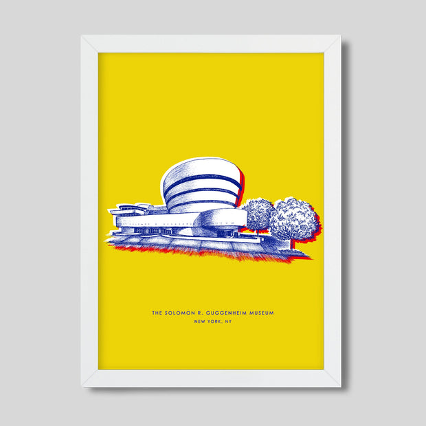 Gallery Prints Yellow Print / 8x10 / White New York Guggenheim Print