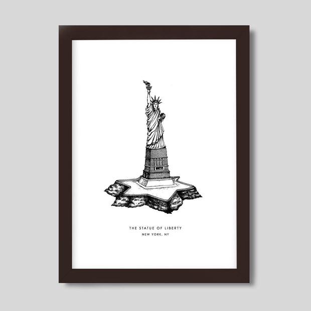 Gallery Prints Black Print / 8x10 / Walnut New York Statue of Liberty Print