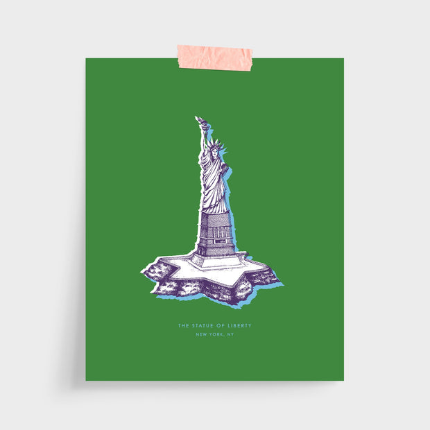 Gallery Prints Green Print / 5x7 / Unframed New York Statue of Liberty Print