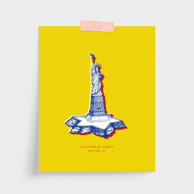 Gallery Prints Yellow Print / 5x7 / Unframed New York Statue of Liberty Print