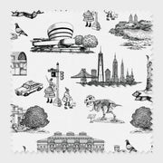 Fabric Black / Cotton New York Toile Fabric