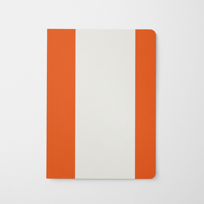 Journal Orange Orange + White Stripes Journal