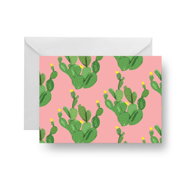 Folded Notecard Coral Palm Desert Folded Notecard Set