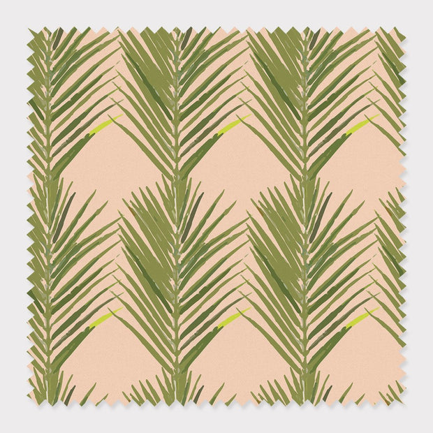 Fabric Cotton / Coral Palms Fabric