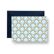 Folded Notecard Blue Parker Folded Notecard Set