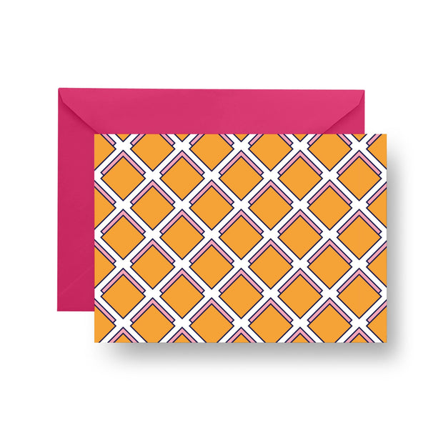 Folded Notecard Orange Parker Folded Notecard Set