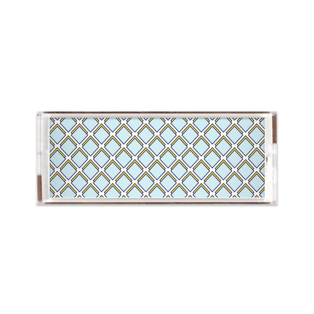 Lucite Trays 11x4 / Blue Parker Lucite Tray