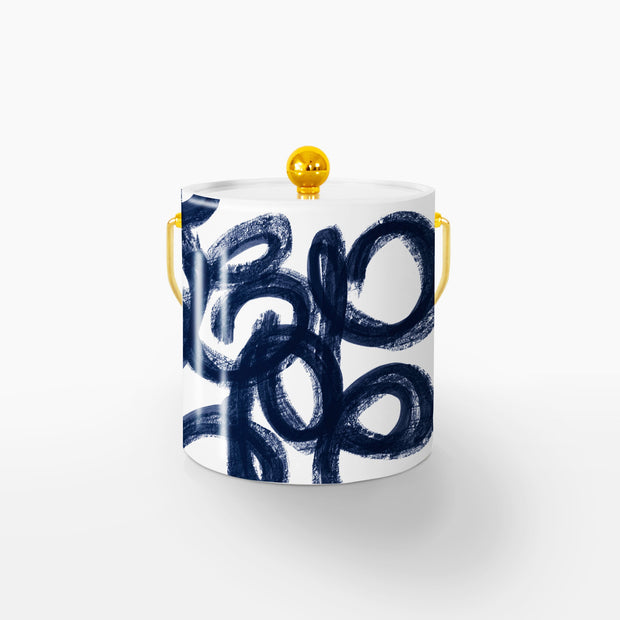 Ice Bucket Gold / Navy Penelope 3QT Ice Bucket